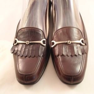 Cole Haan Brown Leather Horsebit Loafers Sz 8B NEW
